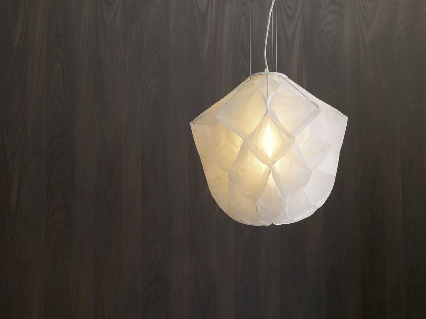 Lampada a sospensione in tessuto ALBEDO Small by FontanaArte