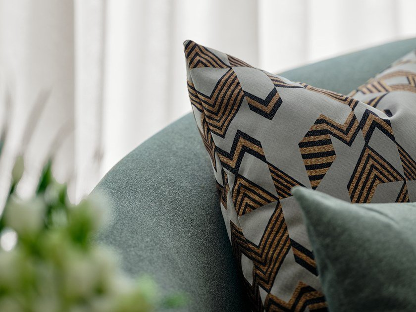 Fabric with graphic pattern ALBERS by Aldeco