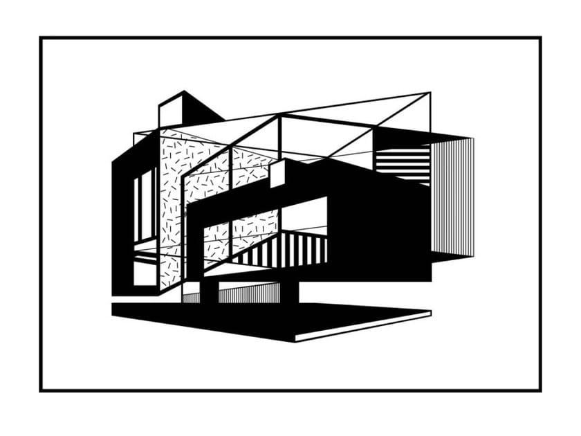 Stampa su carta ALBERS HOUSE by Kristina Dam Studio