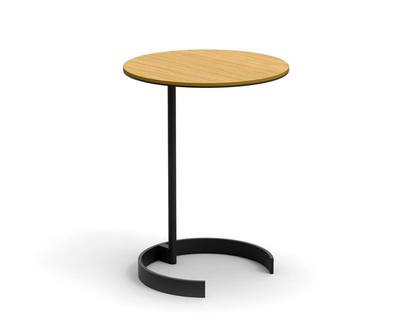 Round PC wood veneer coffee table ALBERT by OOT OOT
