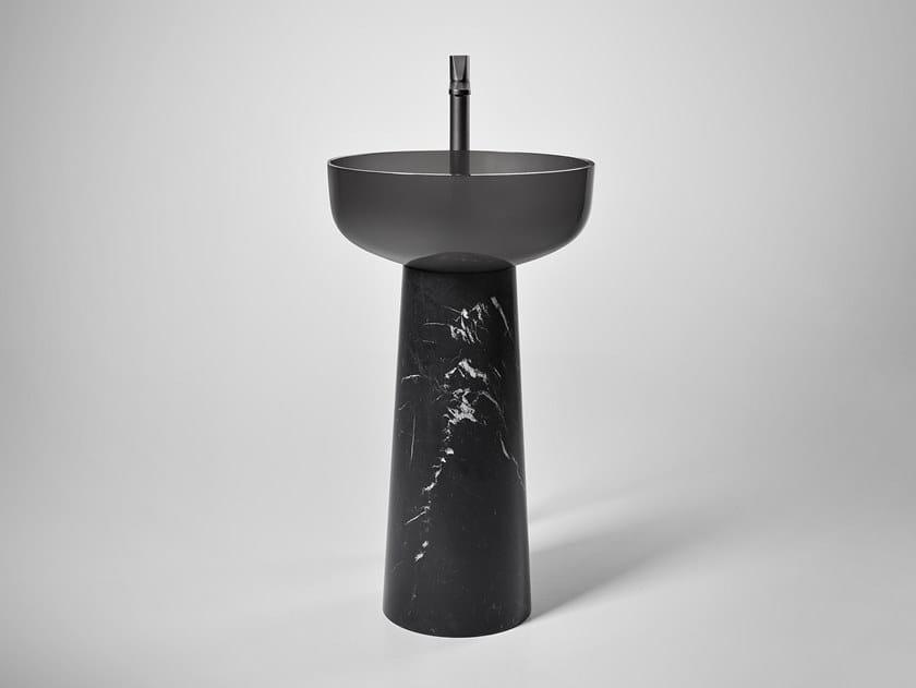 Lavabo freestanding rotondo ALBUME BOLO MARQUINIA by Antonio Lupi Design