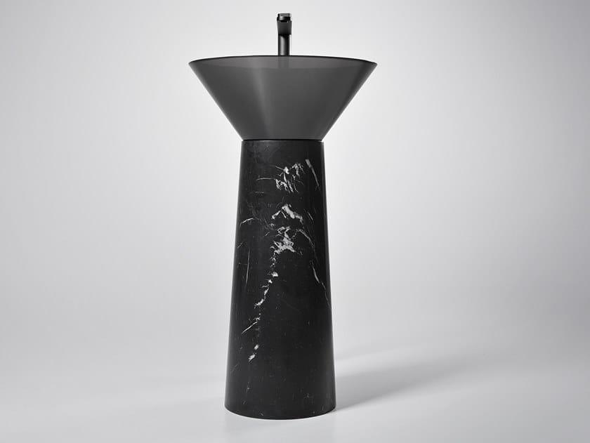 Freestanding round washbasin ALBUME CONO MARQUINIA by Antonio Lupi Design