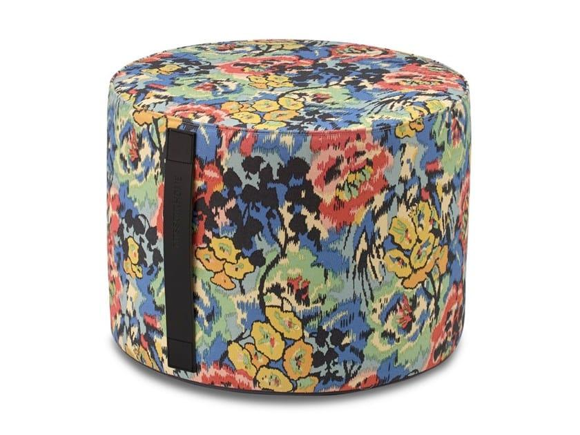 Pouf cilindro in tessuto stampato motivo floreale ALBUQUERQUE by MissoniHome
