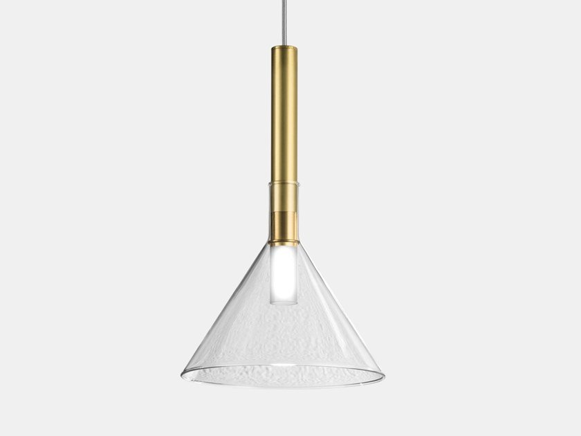 Direct light brass pendant lamp ALCHIMIA 277.03.ONT/277.13.ONT by Il Fanale