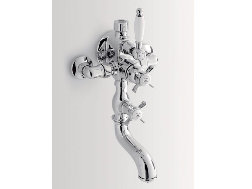 Wall-mounted thermostatic bathtub mixer ALDEN | Thermostatic bathtub mixer by BATH&BATH