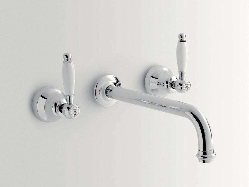 3 hole wall-mounted washbasin tap ALDEN | Wall-mounted washbasin tap by BATH&BATH