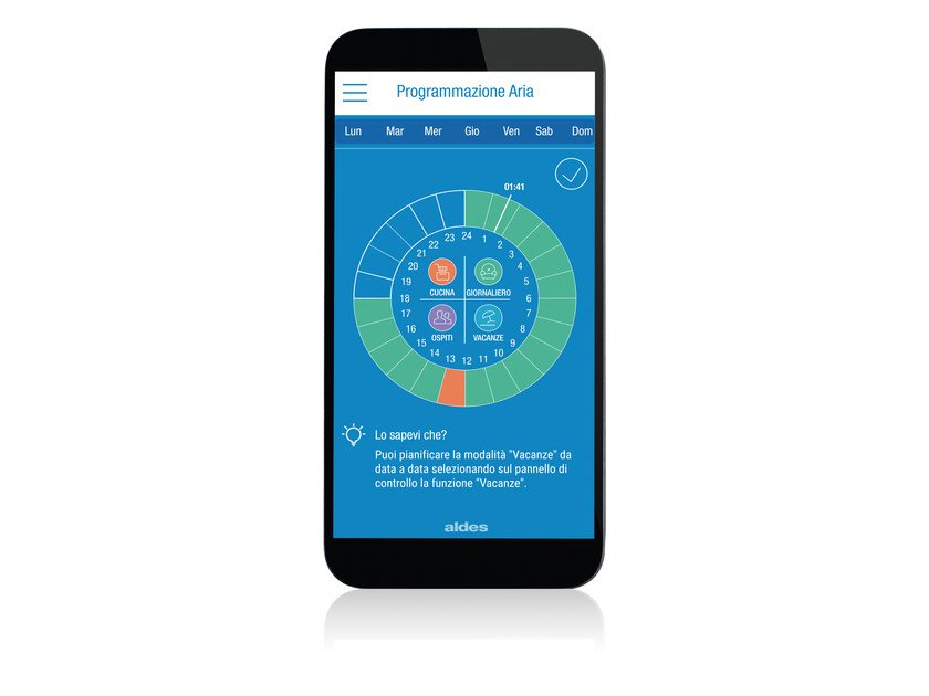 Software for home and building automation ALDES CONNECT TM by ALDES