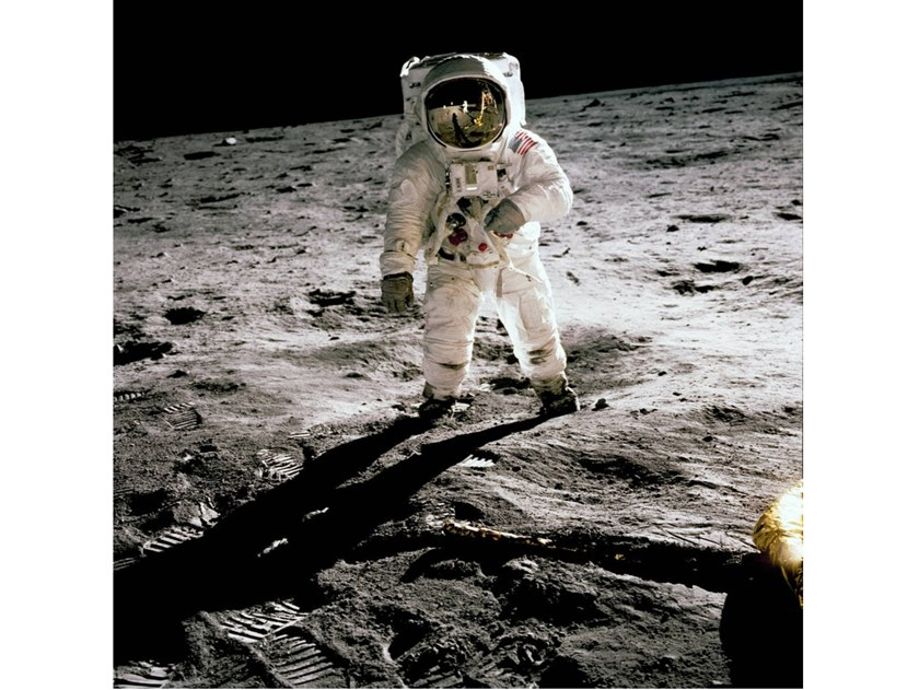 Stampa fotografica ALDRIN ON THE MOON by Artphotolimited