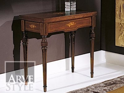 Extending rectangular solid wood console table ALESSANDRO by Arvestyle