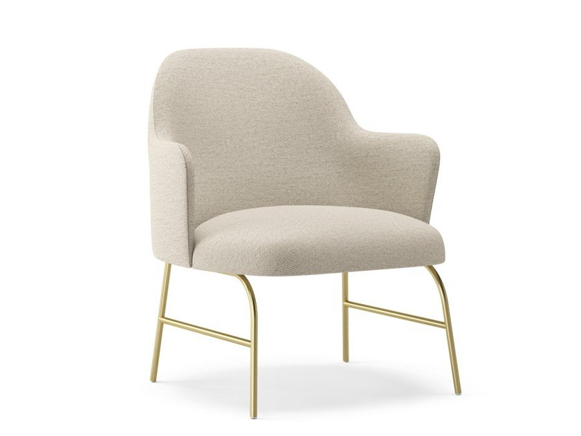 Fabric easy chair with armrests ALETA | Easy chair with armrests by Viccarbe