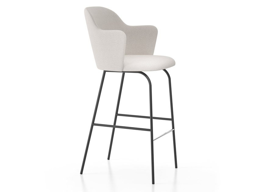High stool with armrests with footrest ALETA | Stool with armrests by Viccarbe