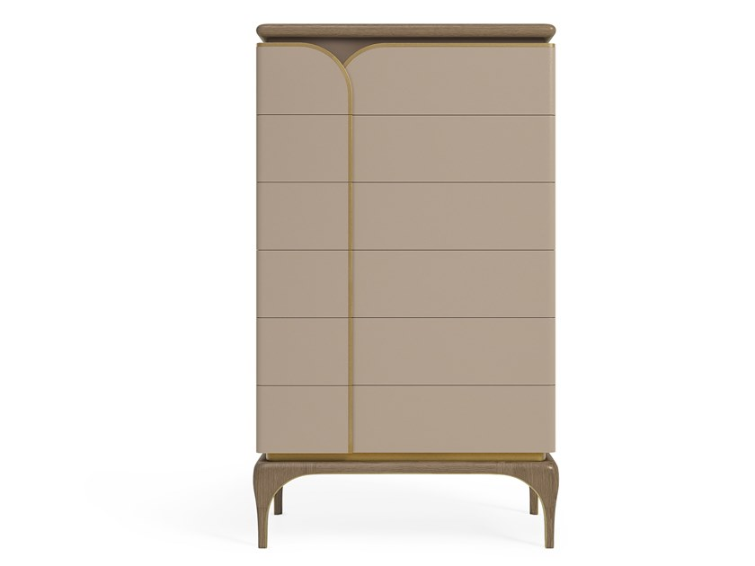 6 drawers tall-boy ALEXANDER | Chest of drawers by A.R. Arredamenti