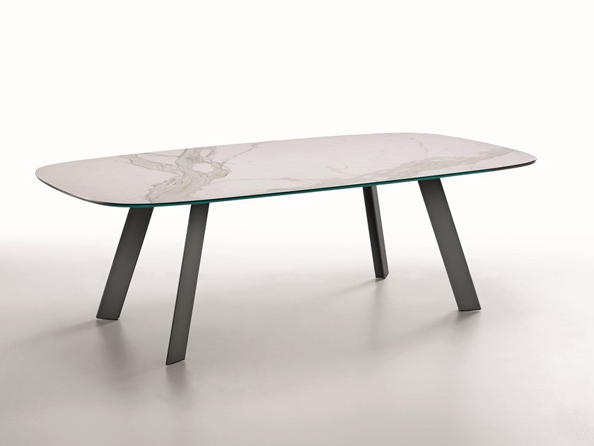 Glass ceramic dining table ALEXANDER | Table by Midj