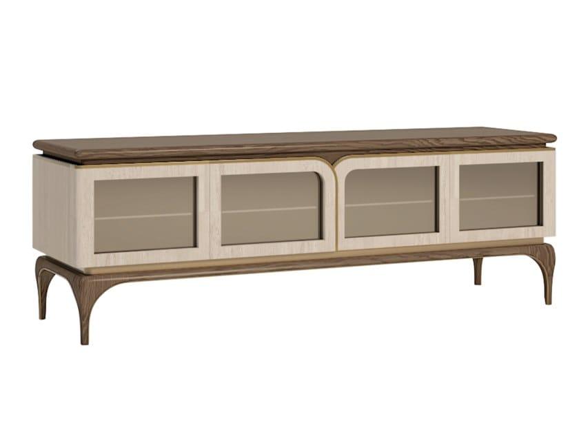 Wooden TV cabinet ALEXANDER | TV cabinet by A.R. Arredamenti