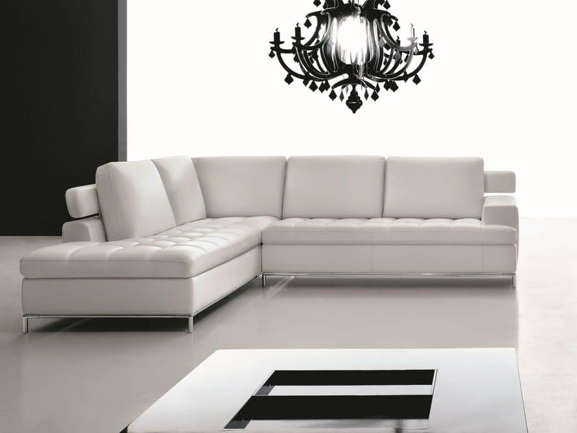Sectional leather sofa ALEXIA | Sectional sofa by Egoitaliano