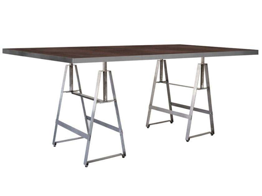 Rectangular iron dining table ALFA 2 by Vela Arredamenti