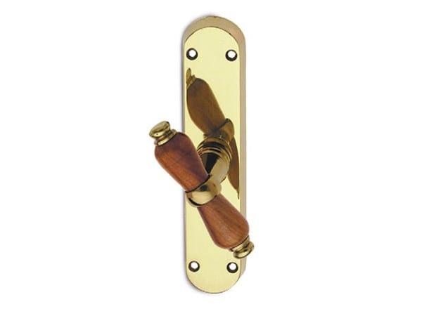 Brass window handle on back plate ALFA EASY | Window handle by Pasini