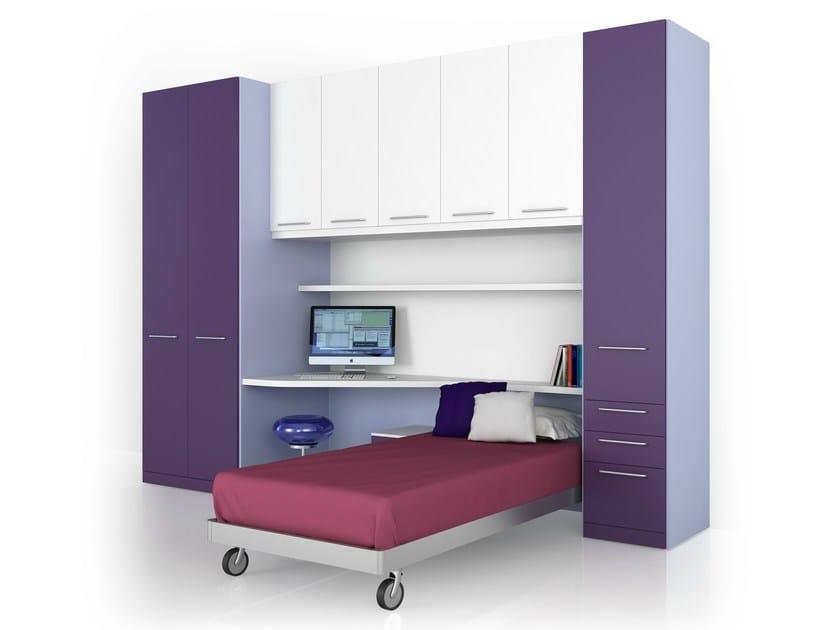 HPL bedroom set with bridge wardrobe ALFABETO | Bedroom set with bridge wardrobe by De Rosso