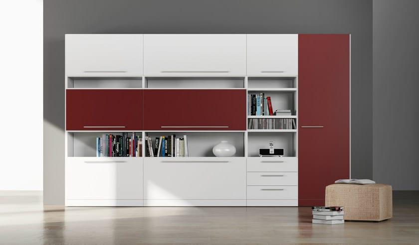 Sectional HPL bookcase ALFABETO   HPL bookcase by De Rosso