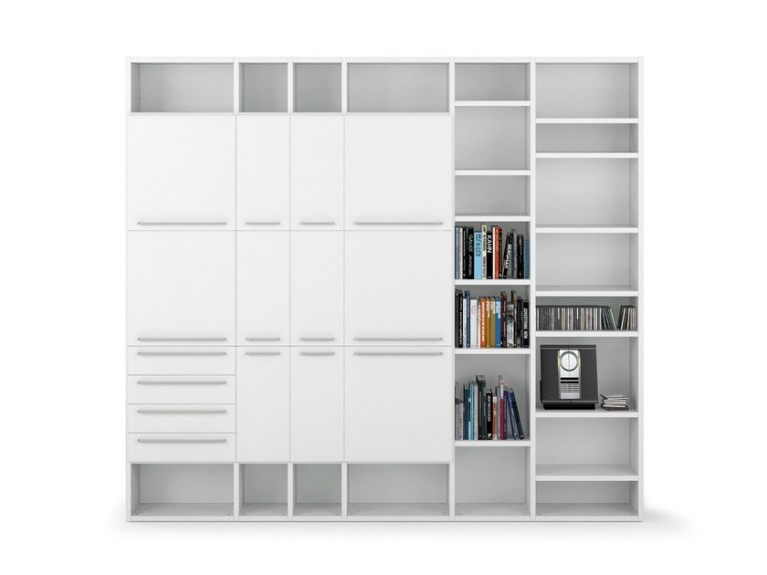 Sectional PVC bookcase ALFABETO | PVC bookcase by De Rosso