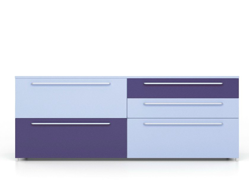 PVC sideboard with drawers ALFABOX   PVC sideboard by De Rosso