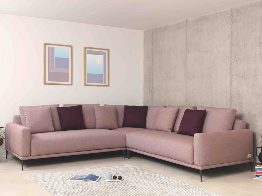 Sofá 5 lugares de relaxamento de tecido de canto ALFIL | Sofá de canto by Lebom