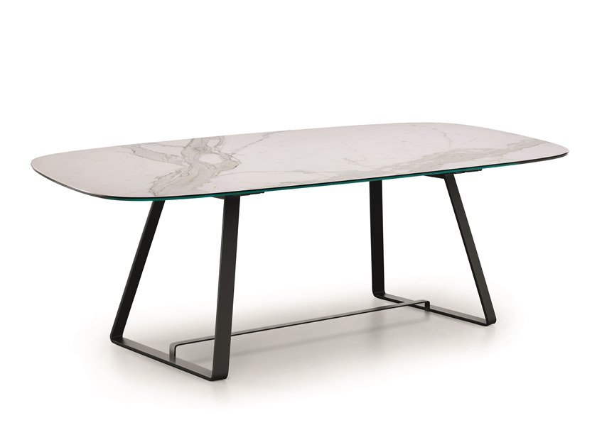 Rectangular glass ceramic table ALFRED | Glass ceramic table by Midj