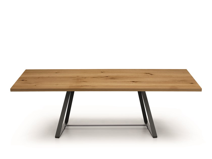 Rectangular solid wood table ALFRED | Wooden table by Midj