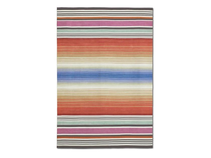 Tappeto-stuoia outdoor tessuta a mano, a righe multicolori ALGHERO OUTDOOR by MissoniHome