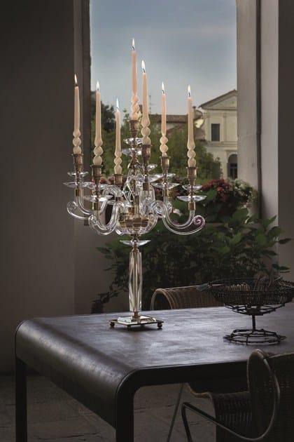 Crystal candlestick ALICANTE | Candlestick by Euroluce Lampadari
