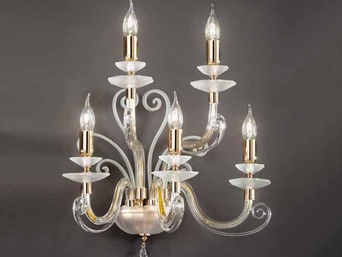 Crystal wall light with Swarovski® crystals ALICANTE CHARM A5 by Euroluce Lampadari