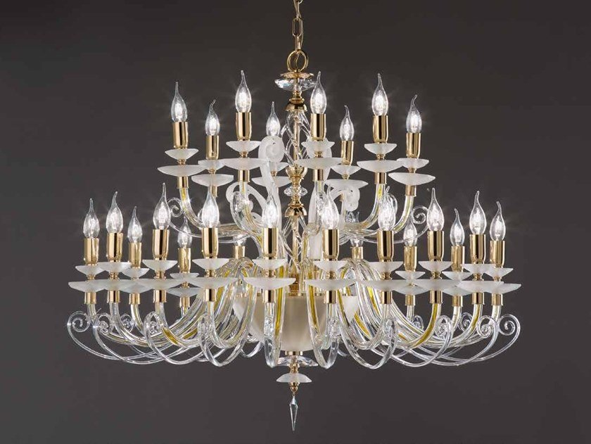 Crystal chandelier with Swarovski® Crystals ALICANTE CHARM L16+8 by Euroluce Lampadari