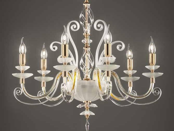 Crystal chandelier with Swarovski® Crystals ALICANTE CHARM L6 by Euroluce Lampadari