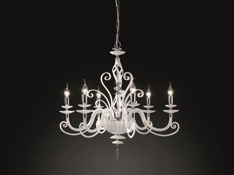 Chandelier with Swarovski® Crystals ALICANTE L6 by Euroluce Lampadari
