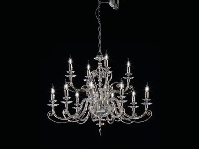 Chandelier with Swarovski® Crystals ALICANTE L8+4 by Euroluce Lampadari