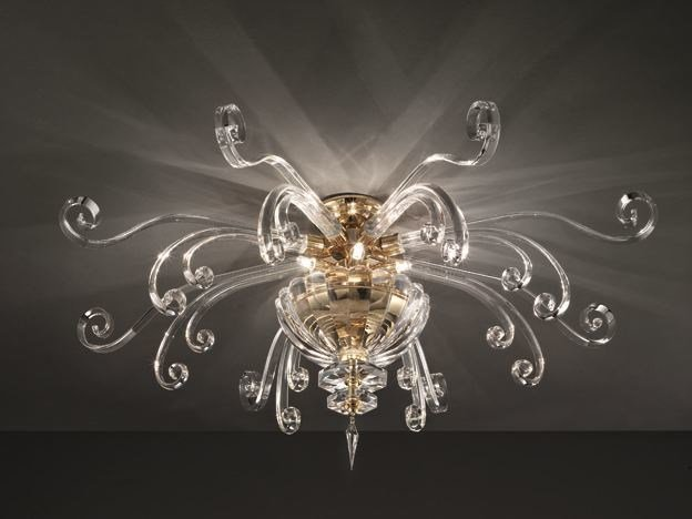 Ceiling lamp with Swarovski® crystals ALICANTE PL6 by Euroluce Lampadari