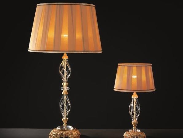 Table lamp with Swarovski® crystals ALICANTE SATIN LG1 LP1 by Euroluce Lampadari