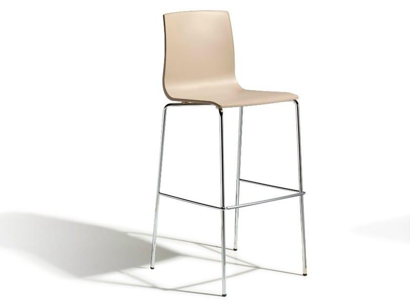 High technopolymer stool ALICE H80 by SCAB DESIGN