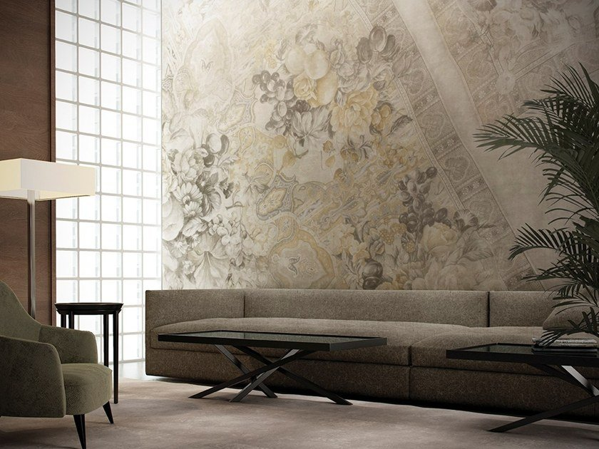 Wallpaper with floral pattern ALIZÉ by GLAMORA