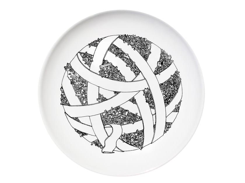 Ceramic dinner plate ALL by Kiasmo