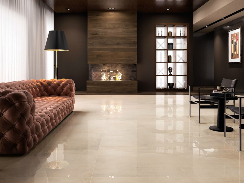 Porcelain stoneware wall/floor tiles with stone effect ALL OVER by Supergres