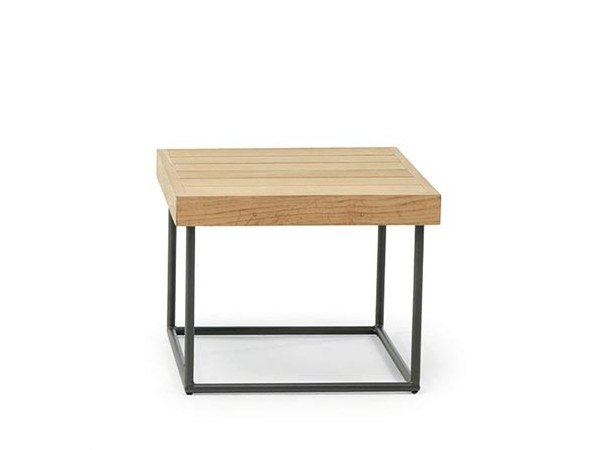 Square teak side table ALLAPERTO MOUNTAIN ETWICK | Square coffee table by Ethimo