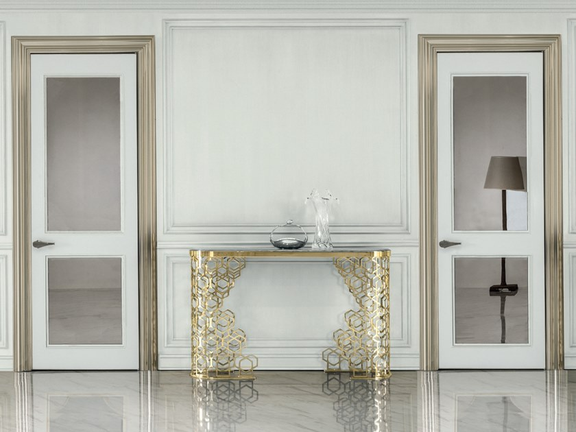 Hinged wood and glass door ALLEY | Hinged door by Longhi