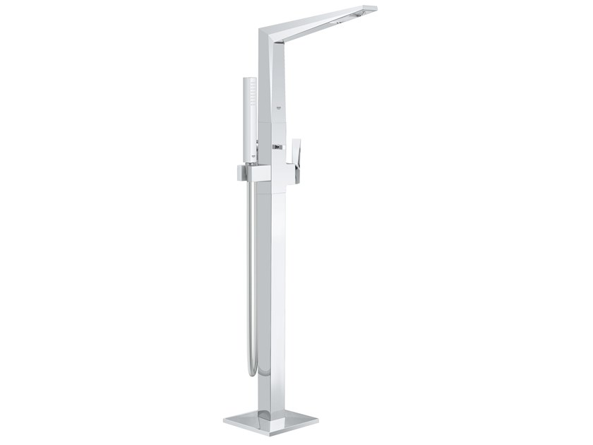 Floor standing bathtub mixer with hand shower ALLURE BRILLIANT 23119001 | Floor standing bathtub tap by Grohe