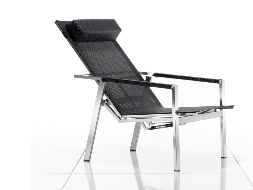 Recliner deck chair with armrests ALLURE | Deck chair by solpuri