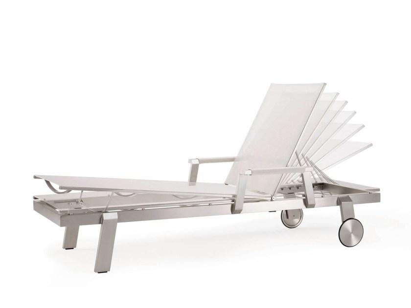 Recliner garden daybed with Casters ALLURE | Garden daybed by solpuri