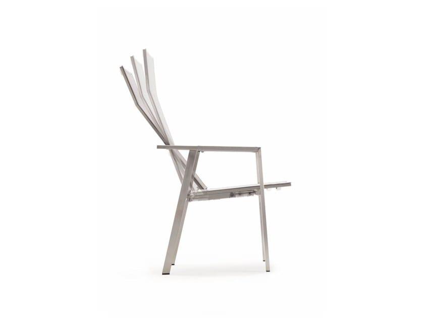Sedia reclinabile con braccioli con schienale alto ALLURE   Sedia ...