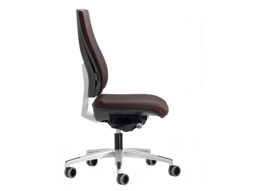 Height-adjustable fabric task chair with 5-Spoke base with casters ALLY 1707 by TALIN