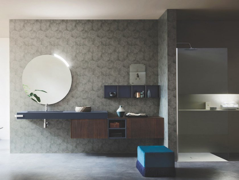 Wall-mounted vanity unit ALMA 11 by Arbi Arredobagno