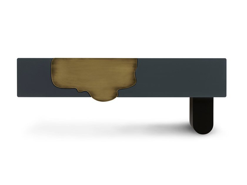 Lacquered rectangular wooden console table with drawers ALMA by Green Apple